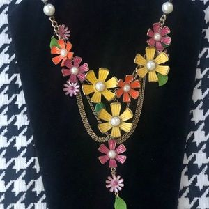 Betsy Johnson vintage multicolored fun necklace